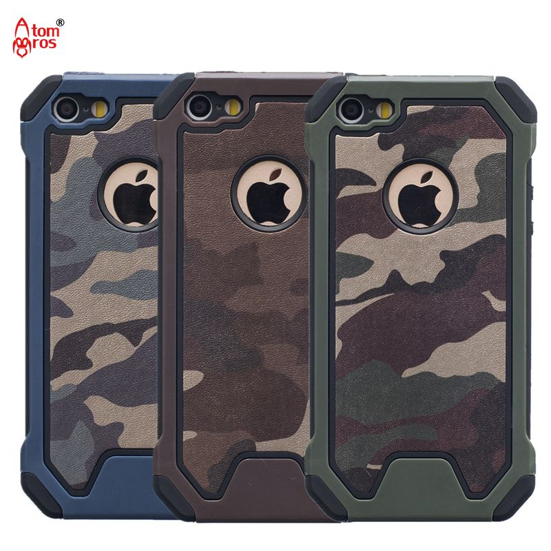 Hybrid Dual Layer Shockproof Impact Camo Army Armor Hard Camouflage Case For iphone 5 5s SE 6 6s Plus / 7 Plus Cover Phone Cases