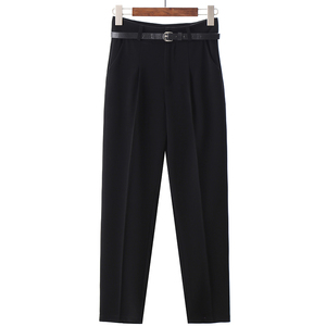 Image 5 - BGTEEVER OL Style White Women Pants Casual Sashes Pencil Pant High Waist Elegant Work Trousers Female Casual pantalon femme