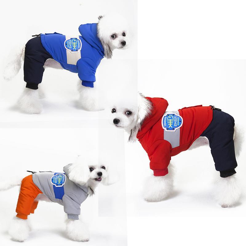 2018 Antivento Vestiti Del Cane Di Inverno Pet Cappotto Caldo Di Spessore Scarponi Da Neve Abbigliamento Parker Tuta Jumper Per Il Piccolo Cane Di Grandi Dimensioni Più Il Formato S-2xl