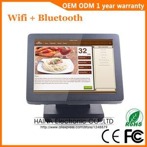 Image 2 - 15 אינץ מתכת מגע מסך קופה מערכת למסעדה שולחן העבודה קיר תליית מגע מסך צג