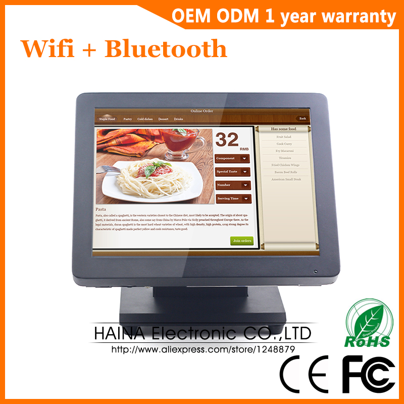 Haina Touch 15 inch Touch Screen Restaurant POS System, Desktop All in one Touch Screen Monitor-in LCD Monitors from Computer & Office