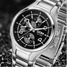 DOM Top Luxury Brand Men Military Sport Watches Men's Quartz Clock Male Full Steel Casual Business WristWatch Relogio Masculion