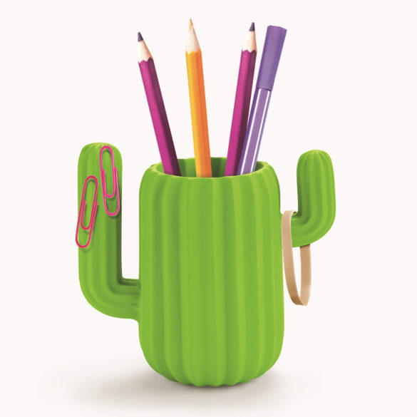 Charismatic Green Cactus Pencil Mug - Magnetic 1