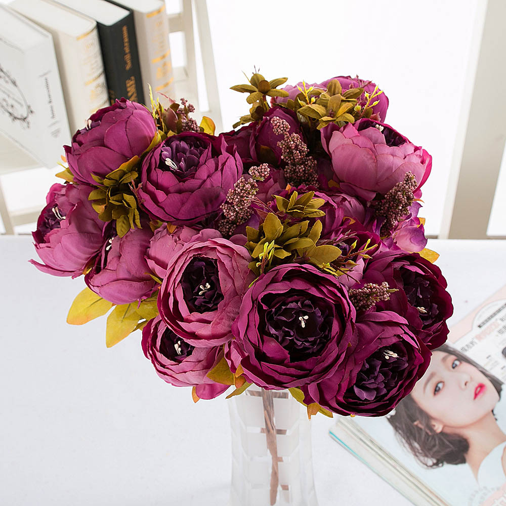 Online Buy Wholesale Purple Kitchen Decor From China: Online Buy Wholesale Purple Peonies Bouquet From China
