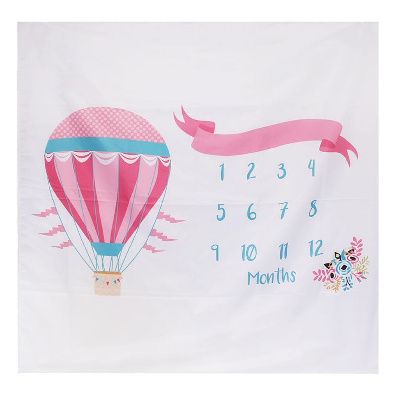 Photo Background Newborn Fashion Photo Studio Cloth Blanket Cute Air Balloon Floral Month Photography Supplies Hanging Backdrop
