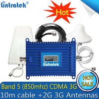 Lintratek 850 mhz 리피터 3g gsm cdma 부스터 850 휴대 전화 신호 repetidor 증폭기 2g 3g 4g 안테나