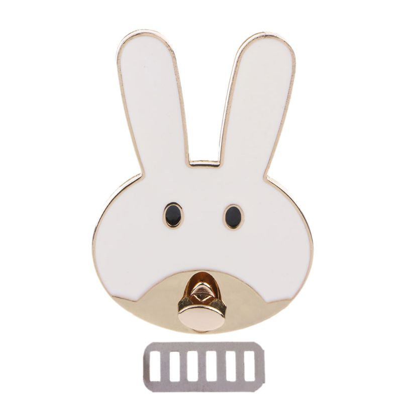 Rabbit Shape Clasp Turn Lock Twist Locks Metal Hardware For DIY Handbag Bag Purse