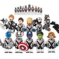 10 шт./компл. Legoed Marvel строительные блоки Мстители 4 эндшпиль Minifigured Тор Халк железная модель человека Кирпичи игрушки для детей KF6076