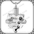 MJD9790 6 Colors Heart Crystal Pet Cremation URN Necklace for Ashes Jewelry Memorial Keepsake Pendant