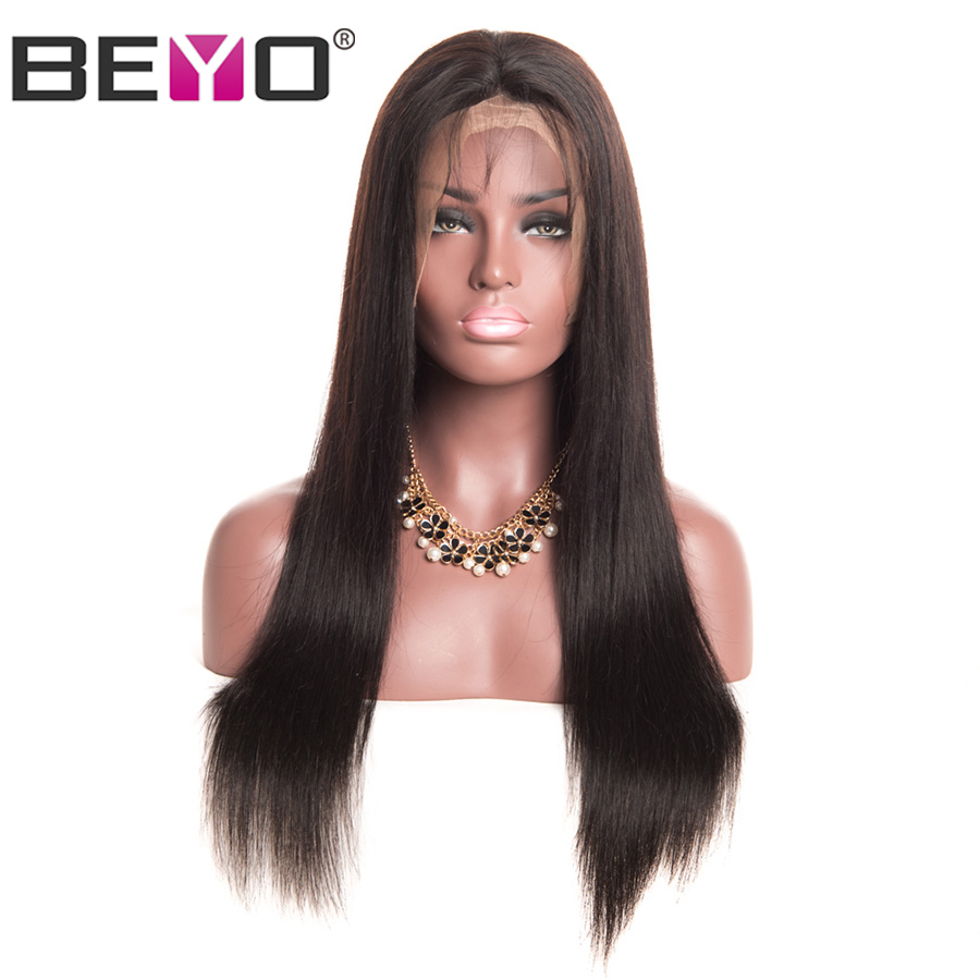 Peruvian Straight Human Hair Wigs 150% Density Lace Front Human Hair Wigs For Women 6x12 Lace Wig With Baby Hair Non Remy Beyo