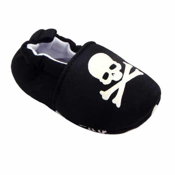 Prewalker niemowląt dziecko dla obu płci czaszka pirata druku bawełna miękkie dno buty nowe