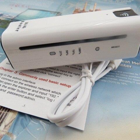 21.6 Мбит Путешествия Беспроводной Точка Power Bank 3 Г Wi-Fi Маршрутизатор с СИМ Слот Для Карт