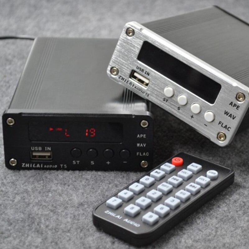 NEW ZHILAI T5 Lossless Digital Music Audio Decoding Player HIFI Fiber Coaxial Analog Signal Output Support APE FLAC ANSI MP3 [sa] new japan genuine original smc solenoid valve syj5523 4g c4 spot