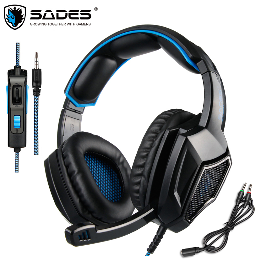 SADES SA-920 Plus PC Gaming Headset Casque PS4 Gamer Stereo Headphones with Microphone for New Xbox One Cell Phone Laptop