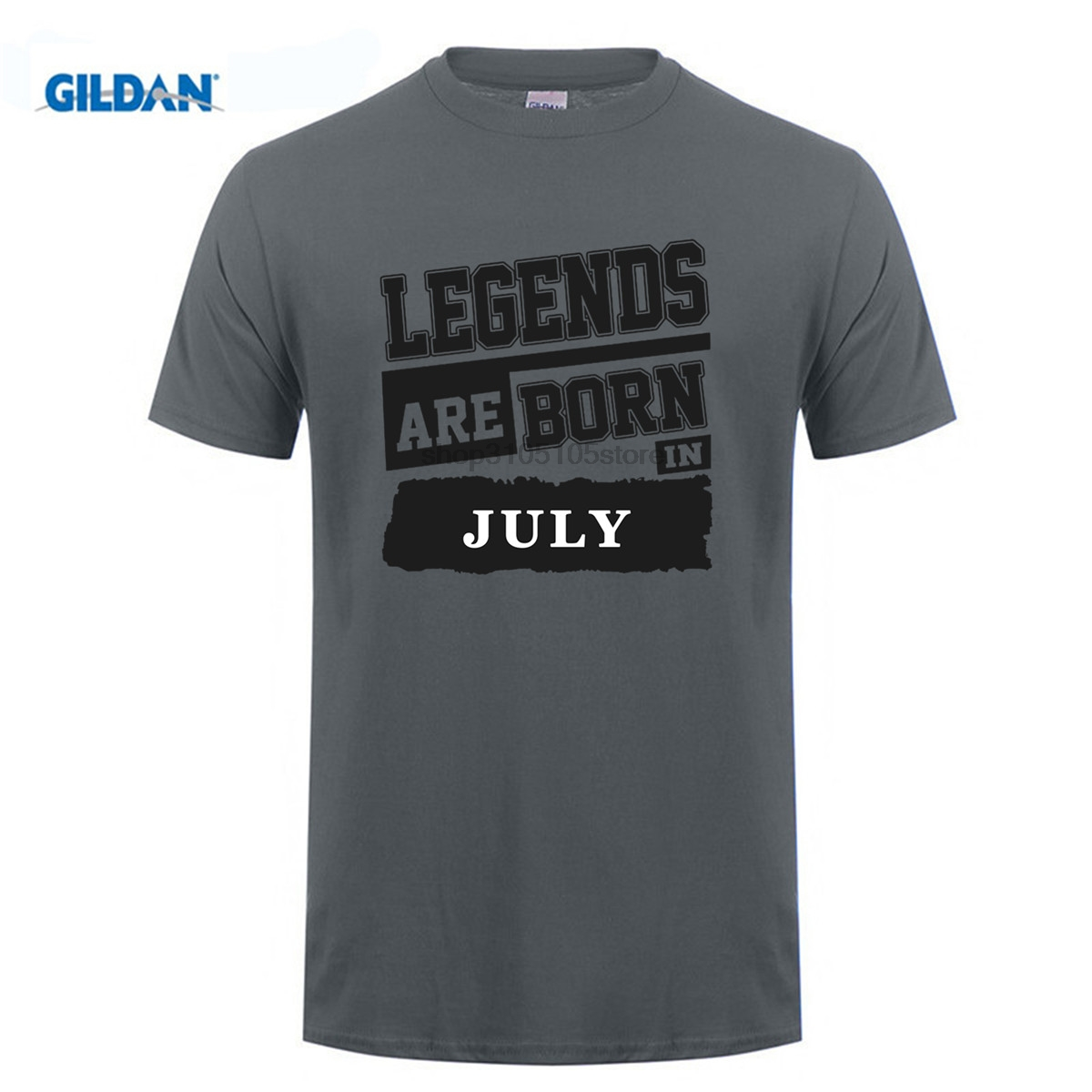 GILDAN Customize Tee Shirts Men Birthday Legends Are Born In July Crew Neck Hipster DIY Ideas T From Mens Clothing Accessories On