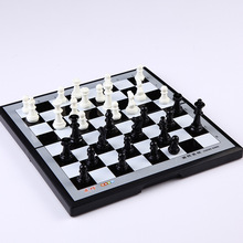 High Quality Magnetic Plastic Entertainment Black White  Medieval Chess Pieces International Game