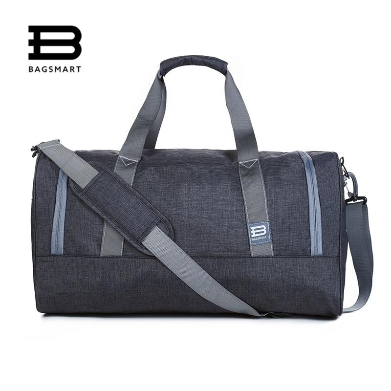BAGSMART New Travel Bag Large Capacity Men Hand Luggage Travel Duffle Bags Nylon Weekend Bags Multifunctional Travel Bags