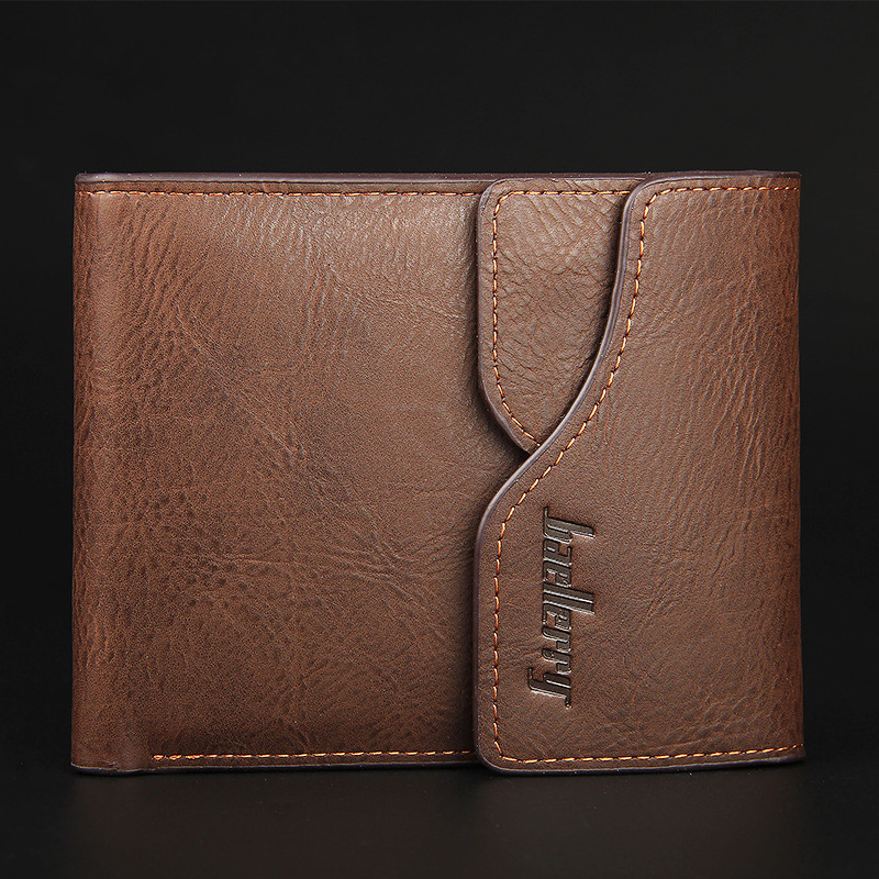 Buckle Men Wallets with Coin Pocket Famous Brand Leather Mens Purse Short Style Bifold Men's Wallet Male Money Bag Card Holder bogesi men s wallets famous brand pu leather wallets with wallet card holder thin slim pocket coin purse price in us dollars