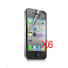 6X Clear LCD Screen Protector Guard Cover For Apple iPhone 4 4S 4GS