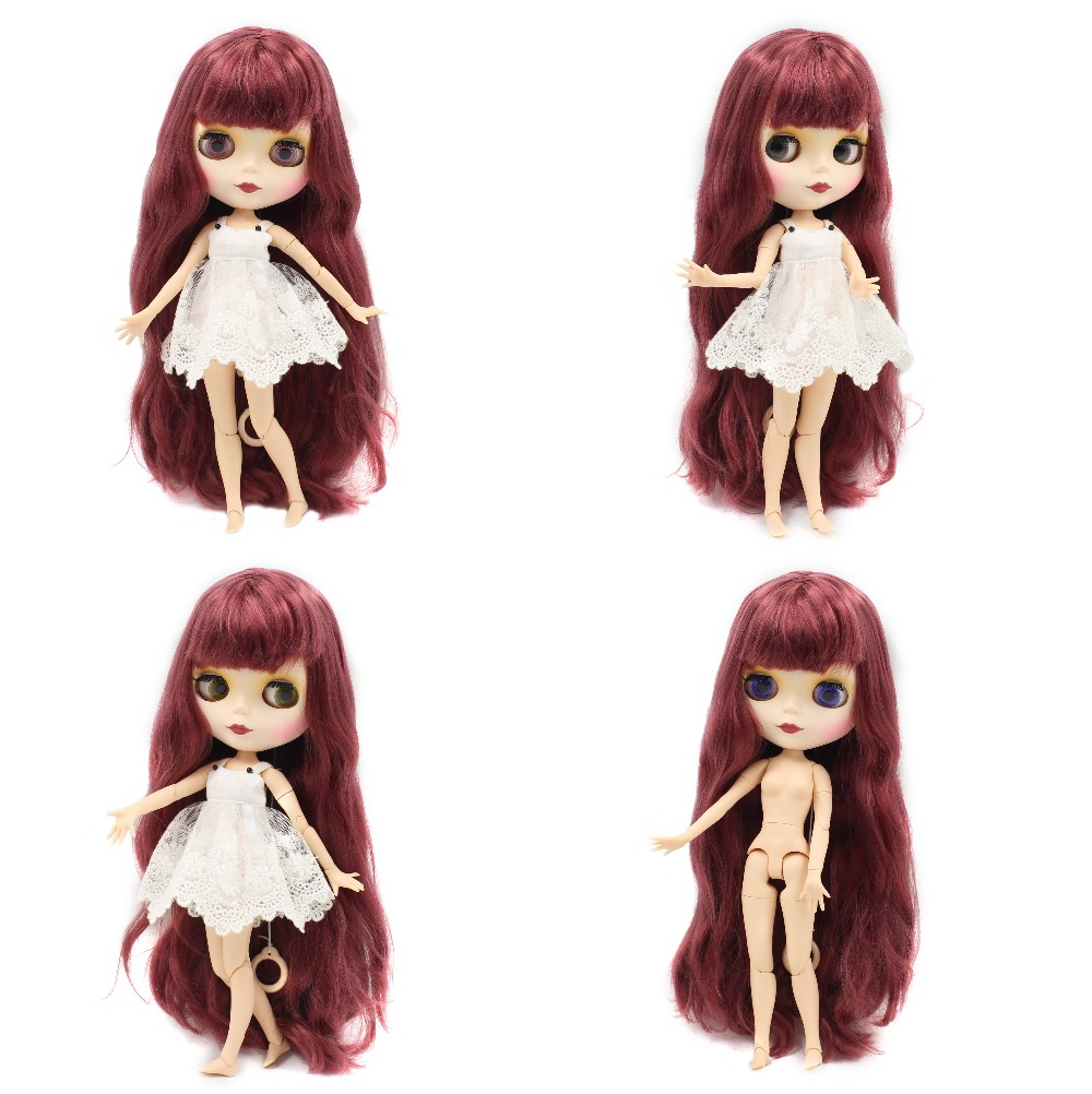 Neo Blythe Doll with Red Hair, White Skin, Matte Face & Jointed Body 1