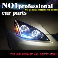 OUMIAO car Headlights Head lamp for Honda Accord 2003 2007 LED Headlight DRL HID Xenon bi xenon lens Front Light
