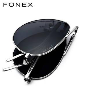 8f3f077d6aa FONEX Polarized Sunglasses Men Sun Glasses for Male Shades