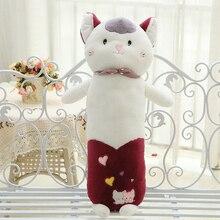 Hot sale free shipping cute lovely cat plush stuffed toys doll bolster sleeping pillow kids girl boy toys birthday gift