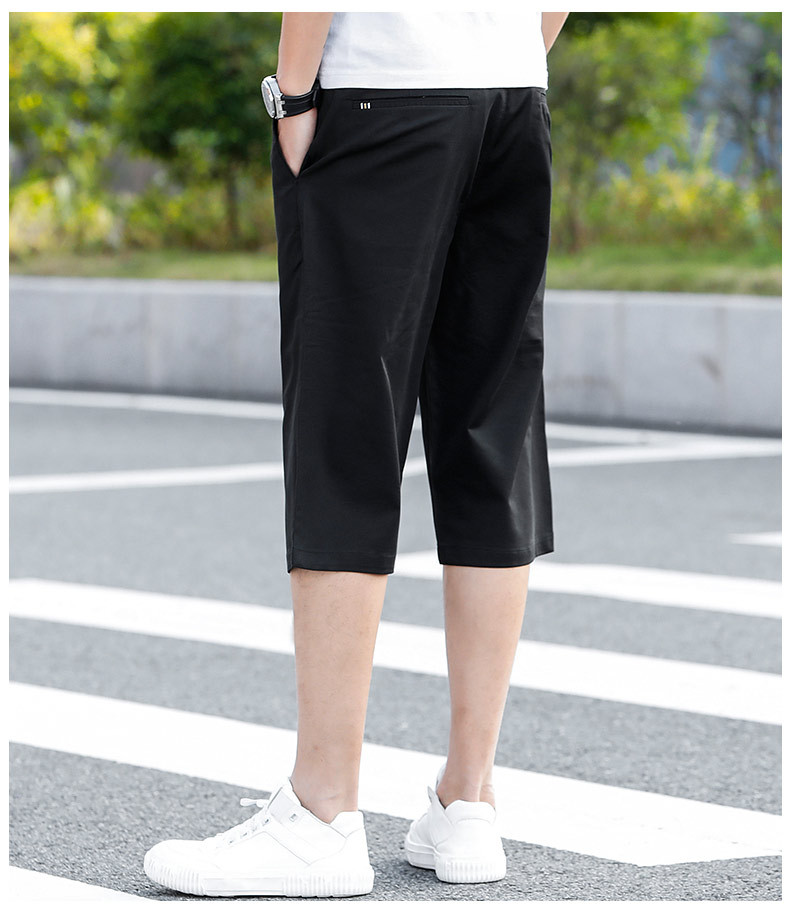 Summer New Solid Shorts Men Cotton Slim Fit Knee Length Casual Men Business Clothes High Quality Plus Size 40 42