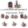 Glyduino WH148 5K 10K 20K 50K 100K 250K 500K 1M Linear Potentiometer topf Einzigen Gemeinsamen für Arduino