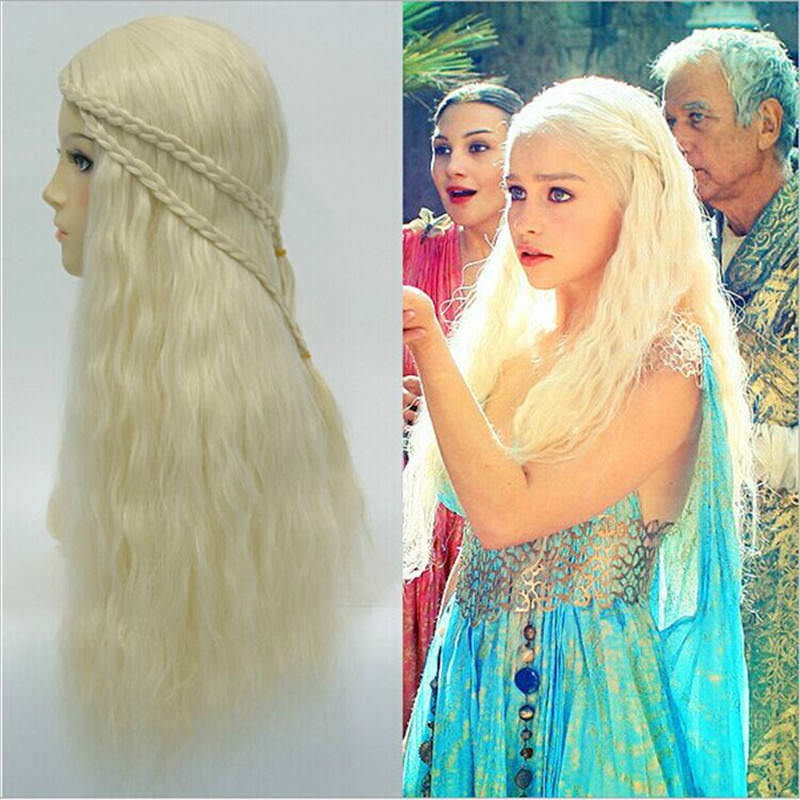 TV Game of Thrones Daenerys Targaryen Cosplay Wig For Women Halloween Play Wig Party Stage Hair  New High quality The Night King