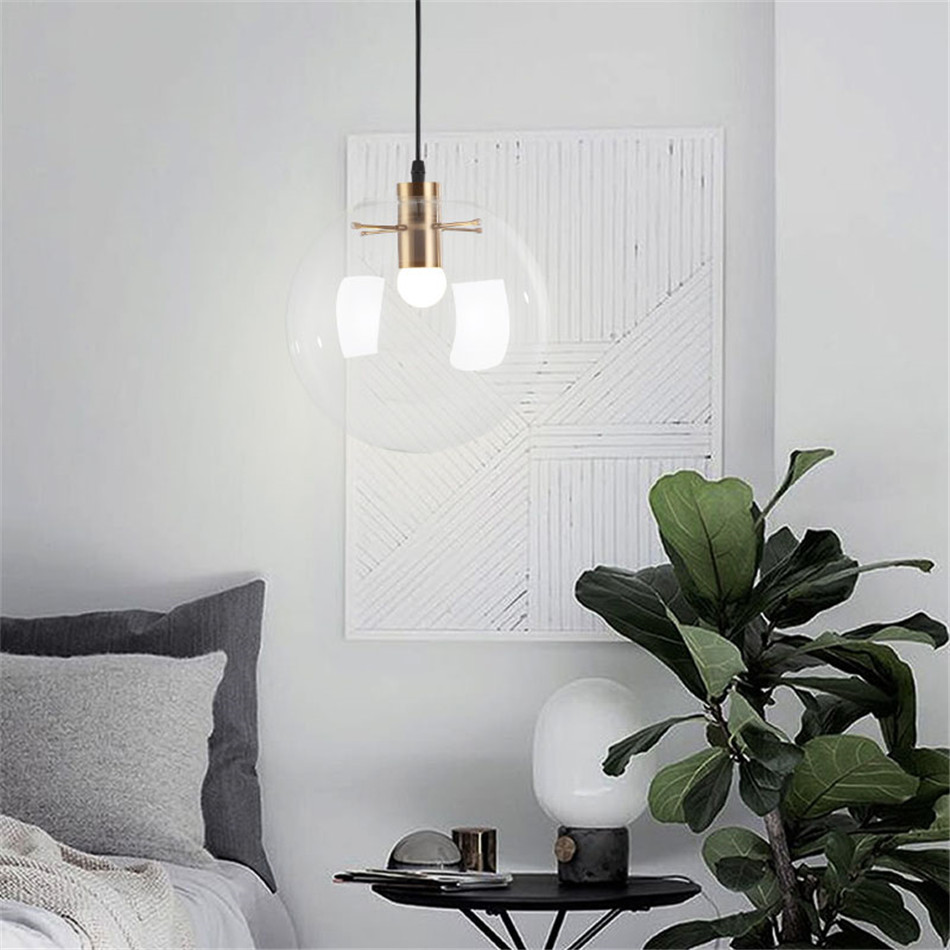 Modern Loft Light Fixtures Pendant Lights Mosaic Light Master Bedroom Hanging Lights Luminaria De Teto Pendente Industrial Study