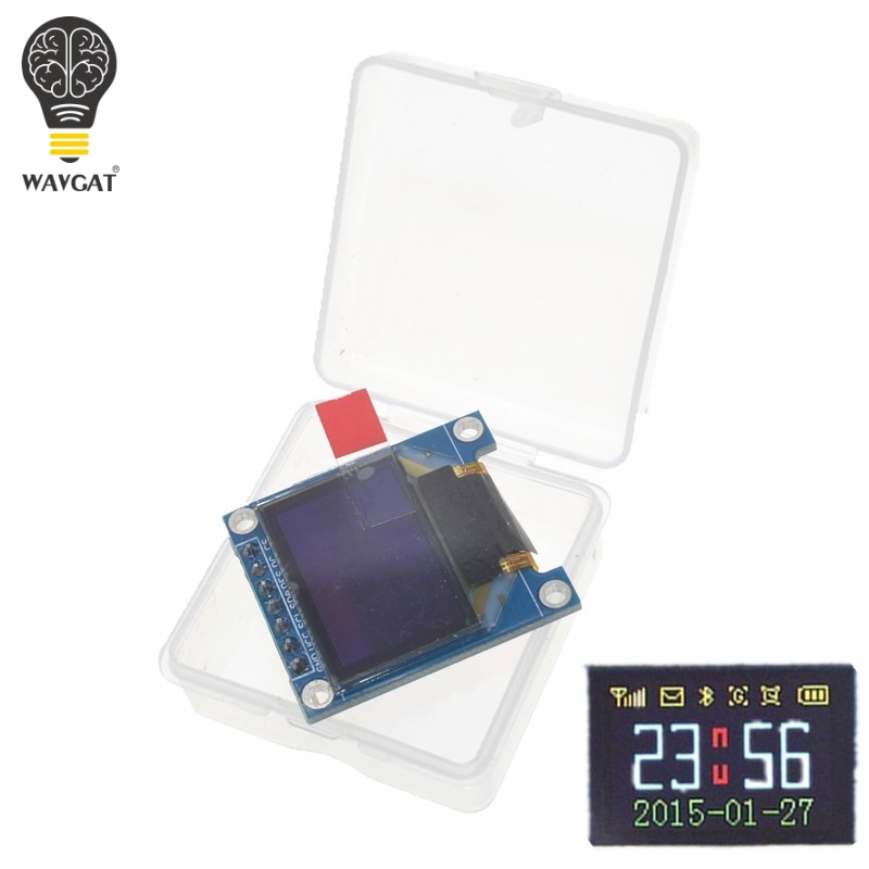 WAVGAT 0.95 Inch SPI Full Color OLED Display DIY Module 0.95 RGB 96x64 LCD For Arduino SSD1306 Driver IC Top Quality