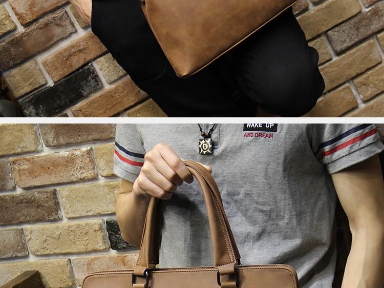 HTB1sLR7i2BNTKJjSszbq6yFrFXaJ Brand Crazy horse pu leather men bags vintage business leather briefcase men's Briefcase men travel bags tote laptop bag man bag