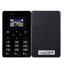 Ультра тонкий мобильный телефон для старшего возраста AEKU M5 4,5 мм Quad Band GSM низкая радиация мини мобильный телефон для детей девочек PK A6 C6 X8