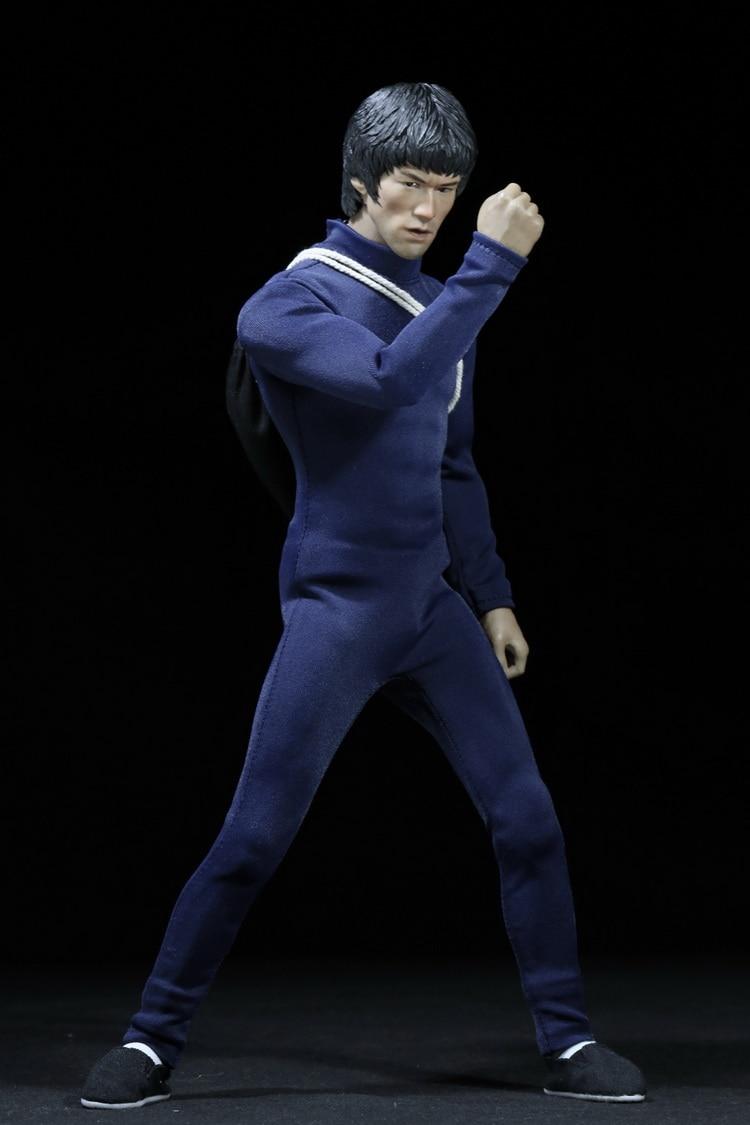 """1:6 skala mężczyzna rysunek akcesoria ubrania Bruce Lee garnitur + buty + kij dla 12 """"figurka lalka, nie obejmują głowy i ciała 2846 w Figurki i postaci od Zabawki i hobby na  Grupa 1"""