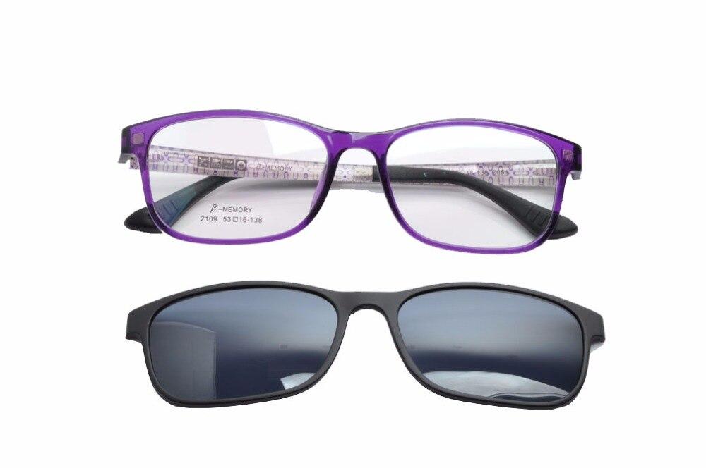 DEDING 2017 Unisexe Clip-sur lunettes de Soleil W/prescription cadre Tortue clip sur Lunettes de Soleil pour la Conduite Oculos de SOL DD1408NEW