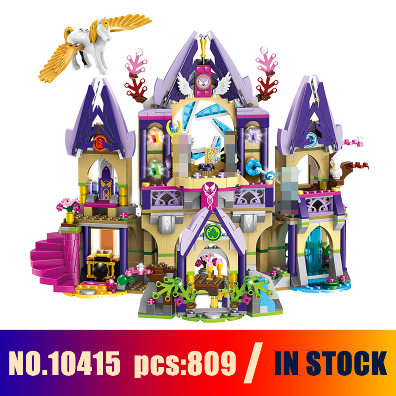 Models Building Toy Skyra's Mysterious Sky Castle Figure 809pcs 10415 Building Blocks Compatible Lego Elves 41708 Toys & Hobbies 2017 10415 elves azari aira naida emily jones sky castle fortress building blocks toy gift for girls compatible lepin bricks