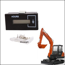 Wooeight New Black Hour Meter Timer 2528-9040 DC12 36V For Doosan Daewoo Excavator Spare Parts(China)