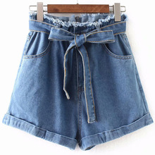 High Waist Denim Shorts for Women Vintage Sexy Brand Jeans Feminino Slim Hip Plus Size