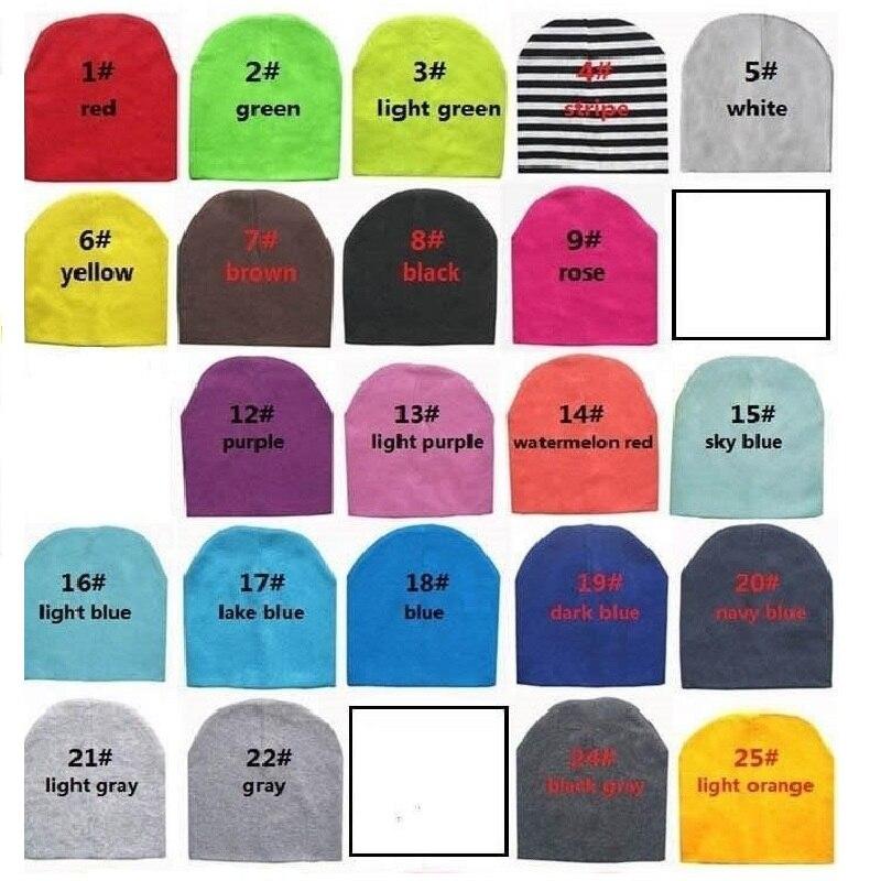 10 шт./лот, много цветов, хлопковая детская шапка, шапка для мальчиков и девочек, детская шапочка с черепом, подарок для младенцев