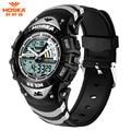 HOSKA Dual Display Wristwatches 2016 Unisex Multifunction Digital Quartz Watch Women Men 50M Waterproof Sport LED Watch Relogio