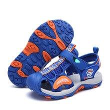 Yaz erkek ayakkabı çocuk nefes çocuk sandaletleri plaj kızlar erkek sandalet açık takunya düz terlik rahat ayakkabı Sandalia