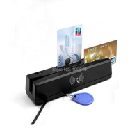 4 in 1 Magnetic stripe card reader+IC/NFC/PSAM contact rfid card reader writer