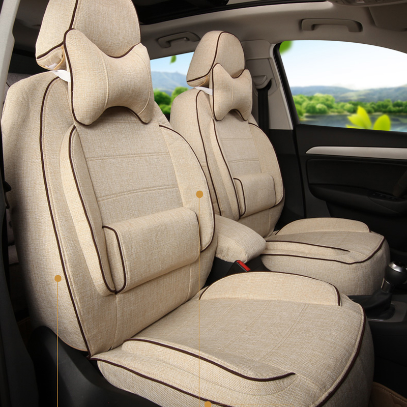 Полный комплект крышка сиденье автомобиля пользовательские подходят для LOTUS L3 автомобиля Салонные аксессуары льняной ткани Чехлы для сиде