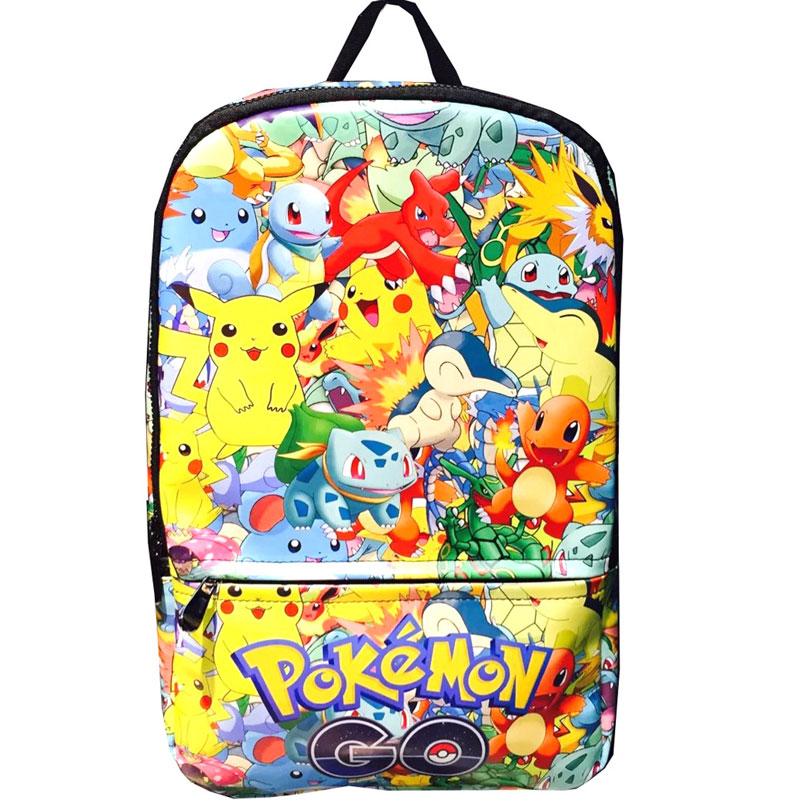 Cartoon Pokemon Backpack for Kids Students School Bag Anime Pocket Monster Pikachu Leather Bags Creative Gift Backpacks anime cartoon pocket monster pokemon wallet pikachu wallet leather student money bag card holder purse