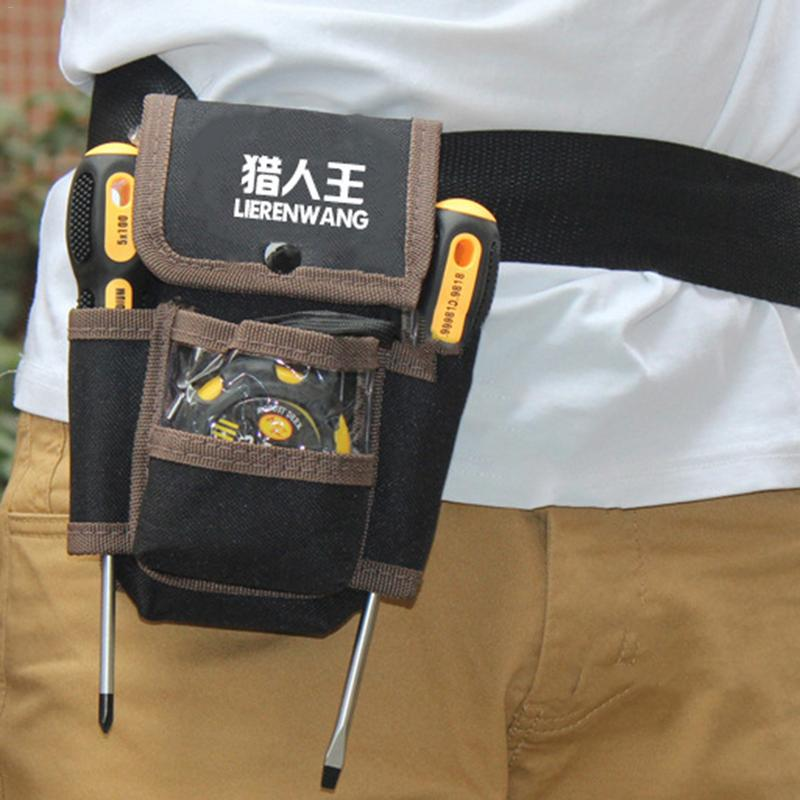 Multiple Pocket Waist Bag Electrician Tools Belt Bag Utility Kit Pocket Hardware Pouch Waist Pack Organizer Bag Holder rewin wb 9025 handy 2 pocket 5 holder water resistant dacron waist tool bag black yellow
