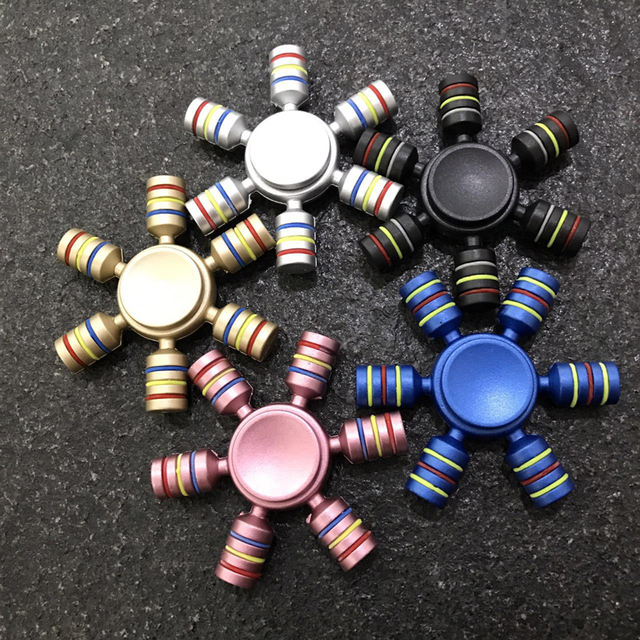 Радужный Спиннер для пальцев Спиннер из АБС-пластика Спиннер поставляется против снятия стресса игрушки