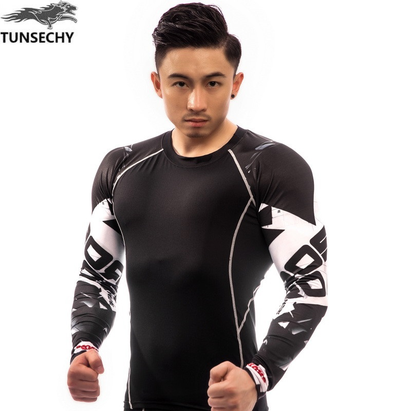 New Fitness Compression Men/'s Bodybuilding Tights Cycling Shorts Rash Guard Wolf