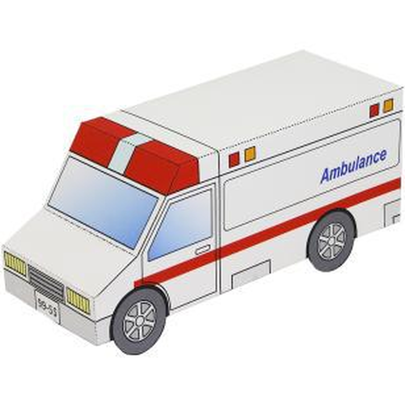 Emergency Car Origami Educational Toys 3D Paper Model Space