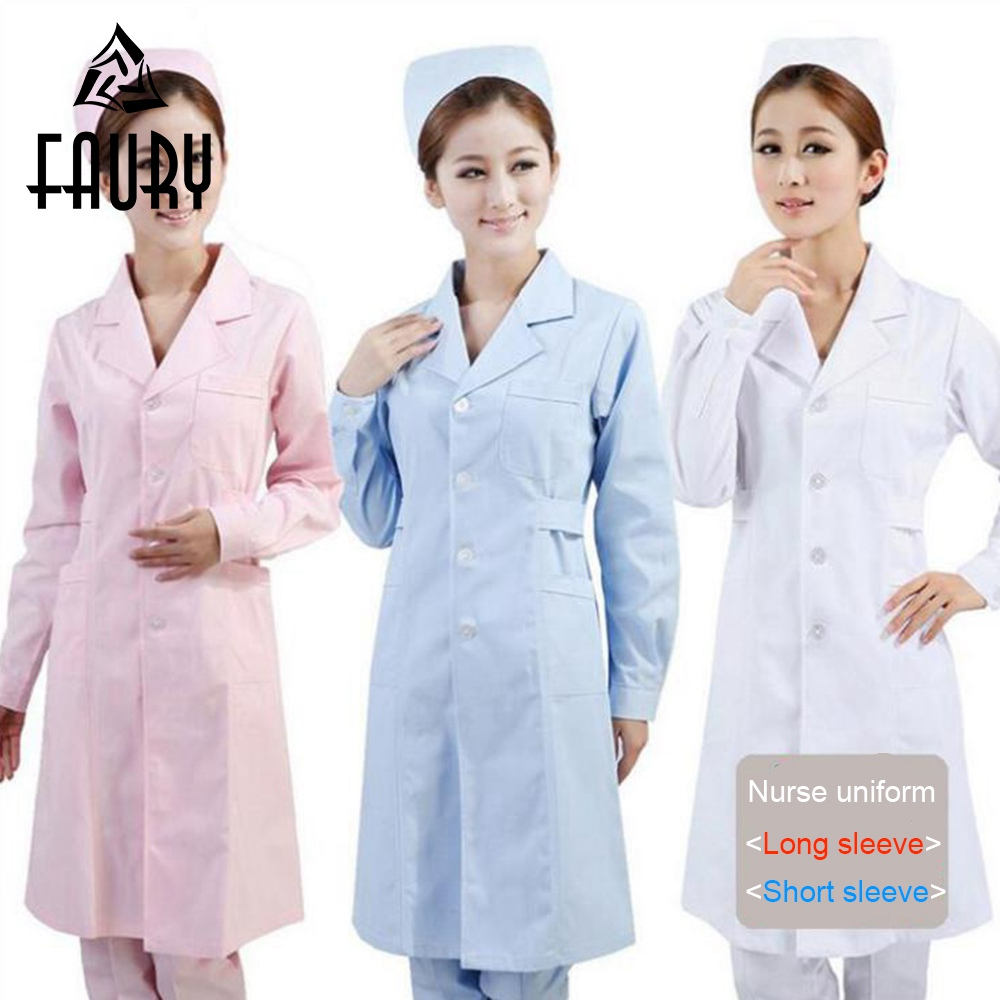 Women Hospital Medical Manicurist  Nurse Uniform Fashionable Design Fit Dental Scrubs Beauty Salon Short Sleeve Nurse Uniform